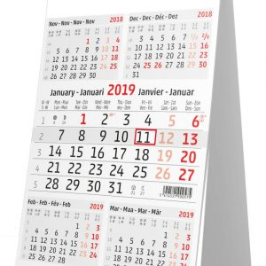 Calendrier de bureau 2019 5 mois