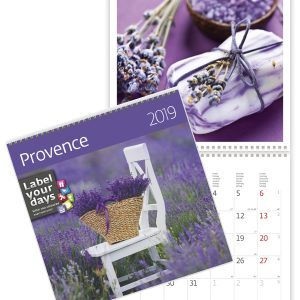 Calendrier mural 2019 Provence 30x30