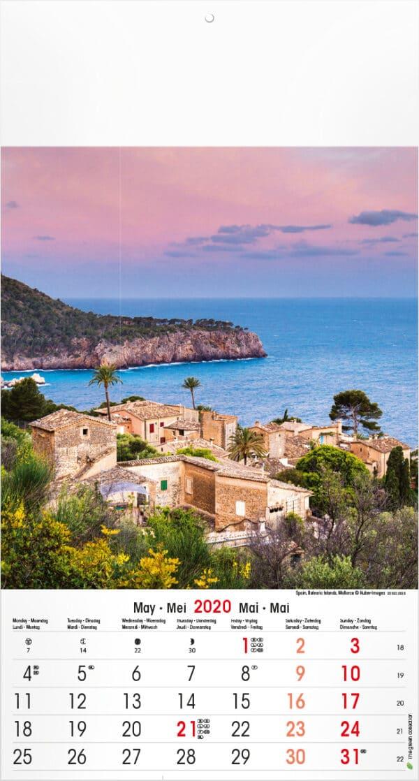 Calendrier Mediterranean 2020 Mai