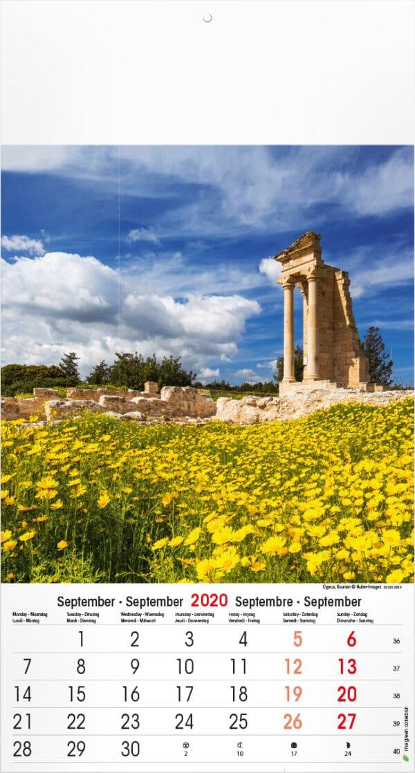 Calendrier Mediterranean 2020 Septembre