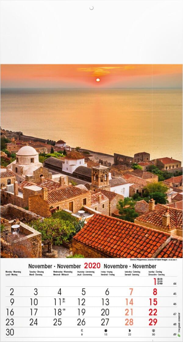 Calendrier Mediterranean 2020 Novembre