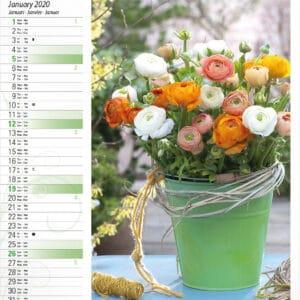 Calendrier Fleurs 2020 Janvier