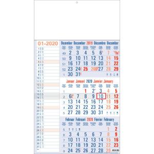 calendrier 3 mois mémo 2020