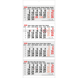 Calendrier 4 mois maxi 2020