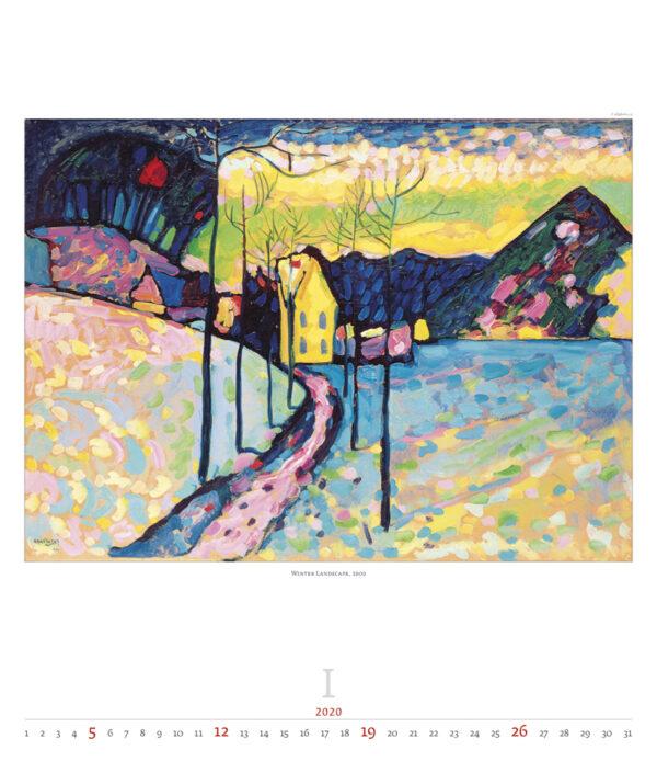 Calendrier Wassily Kandinsky 2020 Janvier