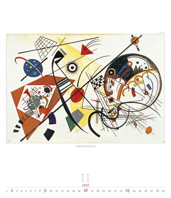 Calendrier Wassily Kandinsky 2020 Février