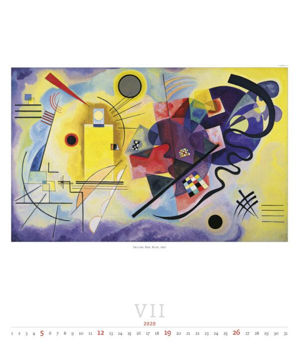 Calendrier Wassily Kandinsky 2020 Juillet