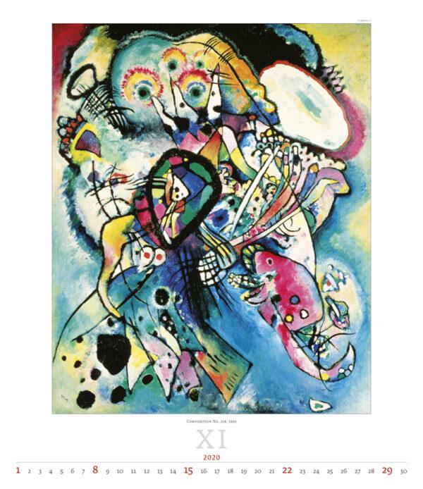 Calendrier Wassily Kandinsky 2020 Novembre