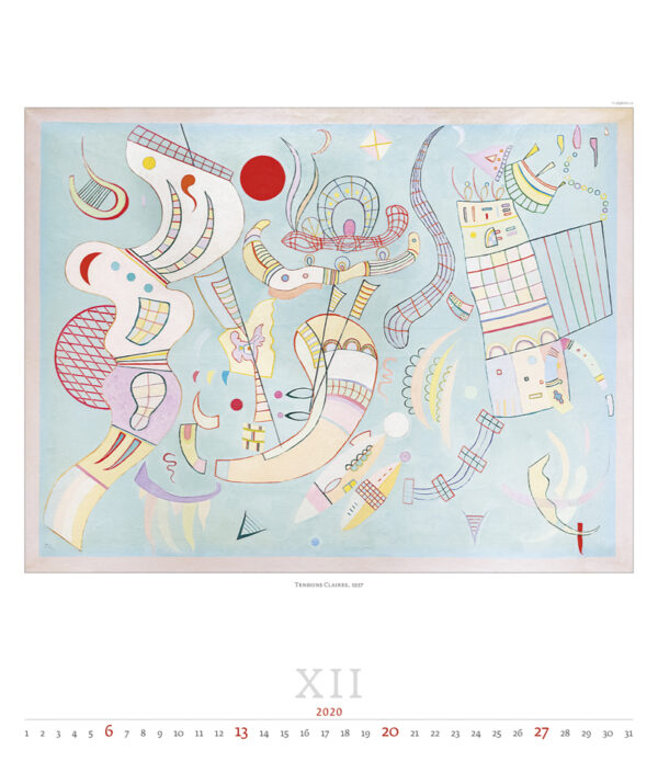 Calendrier Wassily Kandinsky 2020 Décembre