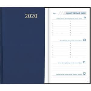 Agenda Visuplan 2020 Relié Bleu