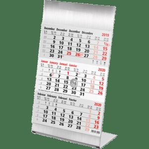 Calendrier de bureau Steel 2020