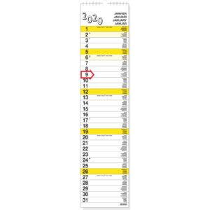 Calendrier Languette XL 2020