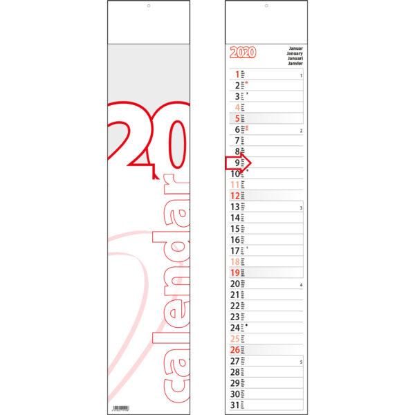 Calendrier languette Midi 2020