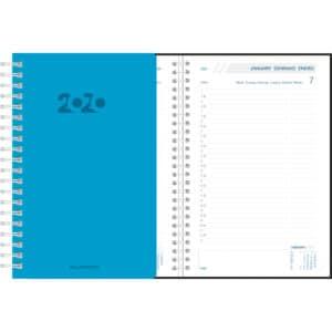 Agenda Daily 2020 Bleu