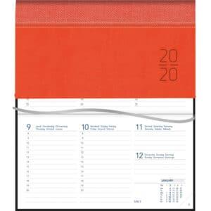 Agenda Novoplan Relié 2020 Orange