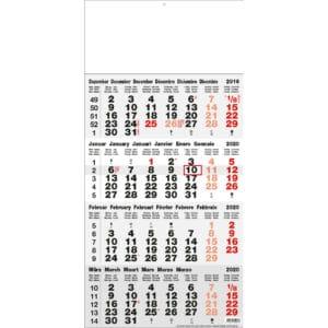 calendrier 4 mois gris 2020