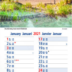 Calendrier languette Seaside 2021 Janvier