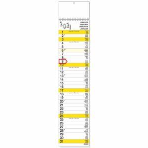 Calendrier languette XL 2021