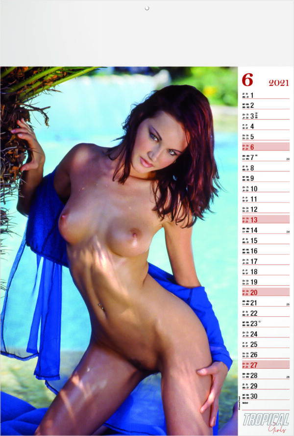 Calendrier pin-up Tropical Girls 2021 Juin