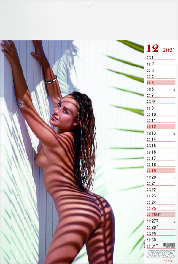 Calendrier pin-up Tropical Girls 2021 Décembre
