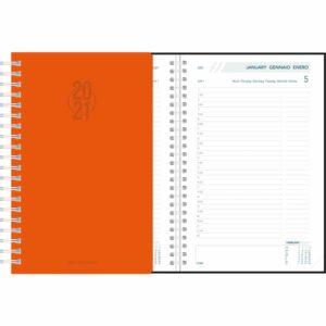 Agenda Daily spirale orange 2021