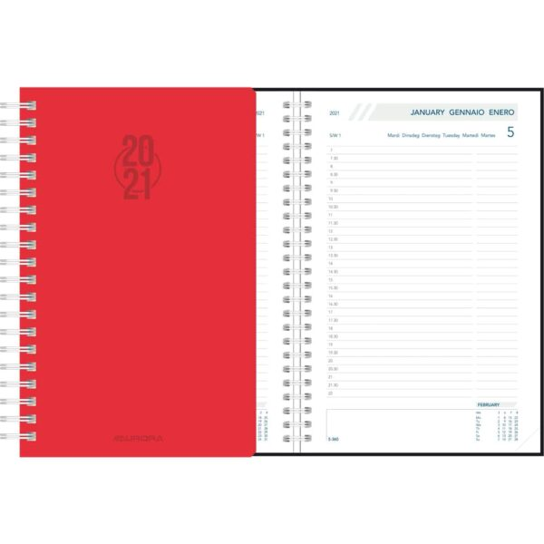Agenda Daily spirale rouge 2021
