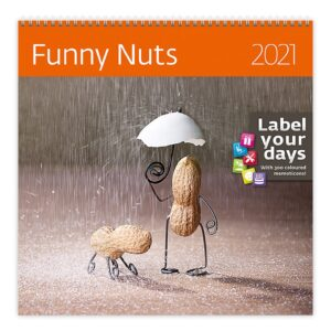 Calendrier mural 30x30 Funny Nuts 2021