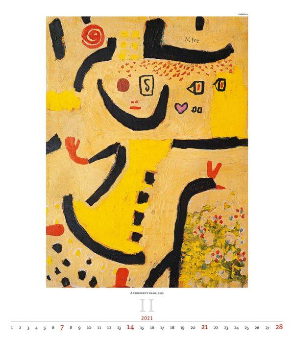 Calendrier Art Paul Klee 2021 Février