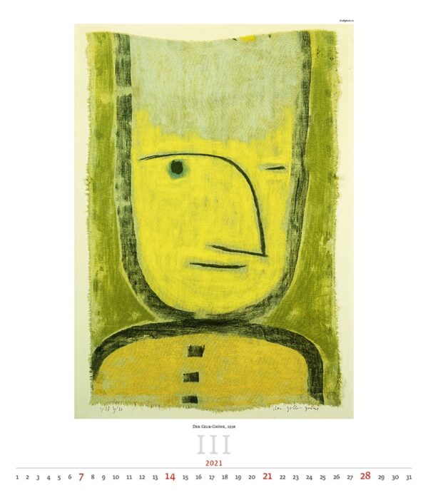 Calendrier Art Paul Klee 2021 Mars