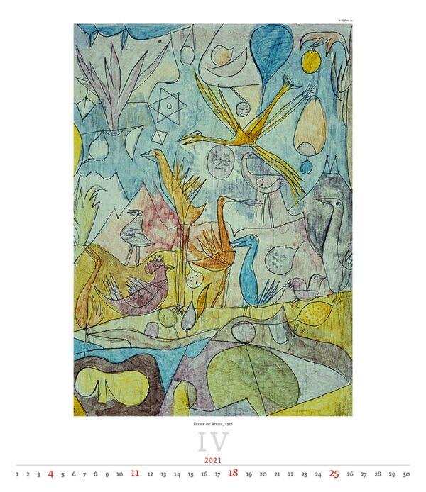 Calendrier Art Paul Klee 2021 Avril