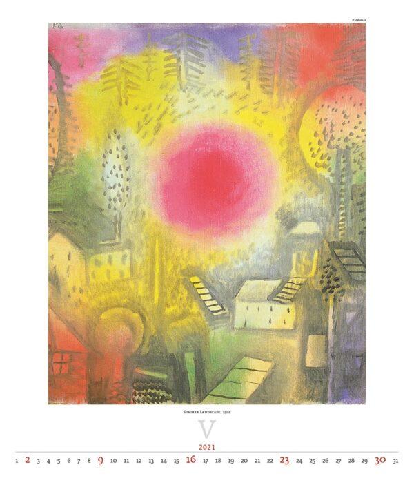 Calendrier Art Paul Klee 2021 Mai