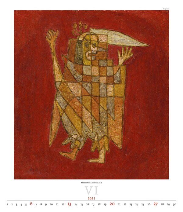 Calendrier Art Paul Klee 2021 Juin