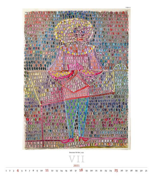 Calendrier Art Paul Klee 2021 Juillet
