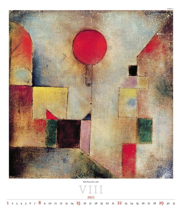 Calendrier Art Paul Klee 2021 Aout