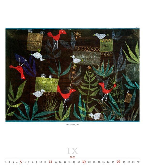 Calendrier Art Paul Klee 2021 Septembre