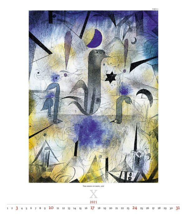 Calendrier Art Paul Klee 2021 Octobre