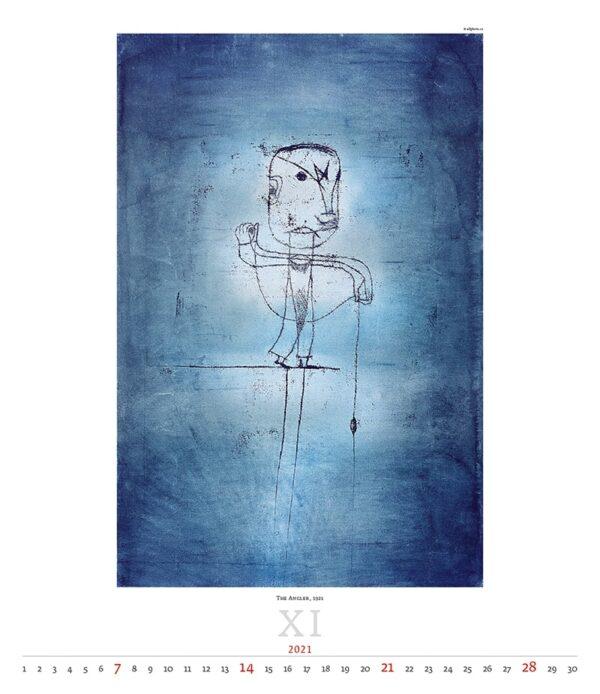 Calendrier Art Paul Klee 2021 Novembre