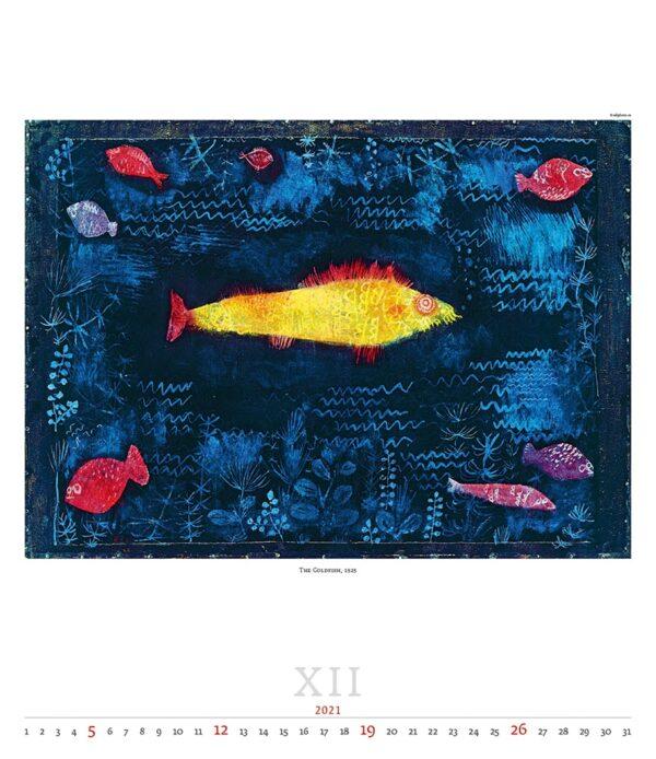 Calendrier Art Paul Klee 2021 Décembre