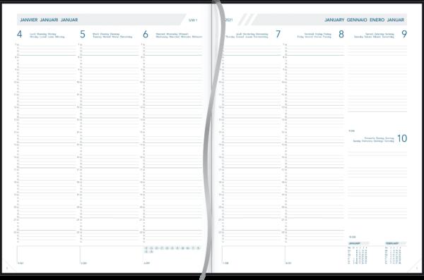 Agenda Plan-a-week relié 2021