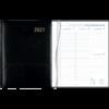 Agenda Plan-a-week relié noir 2021