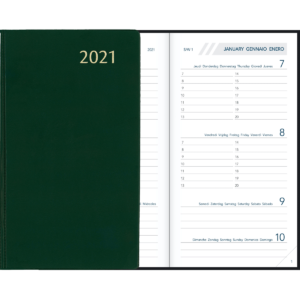 Agenda Visuplan relié Vert 2021