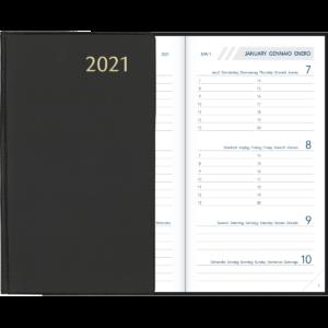Agenda Visuplan relié noir 2021