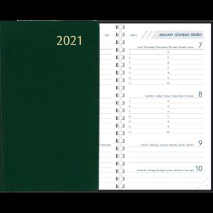 Agenda Visuplan spirale Vert 2021