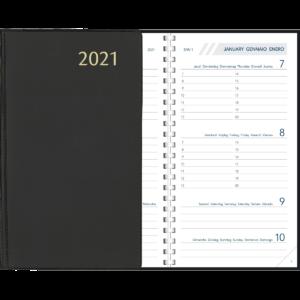 Agenda Visuplan spirale Noir 2021