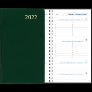 Agenda Visuplan spirale 2022 Vert
