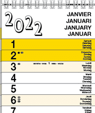 Calendriers languettes